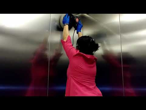 Blinds Cleaning and Polishing Stainless Steel Elevator