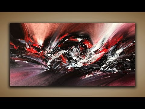 Abstract Painting / DEMO 94 / Abstract Art / Acrylic Painting / Palette Knife / Painting Techniques