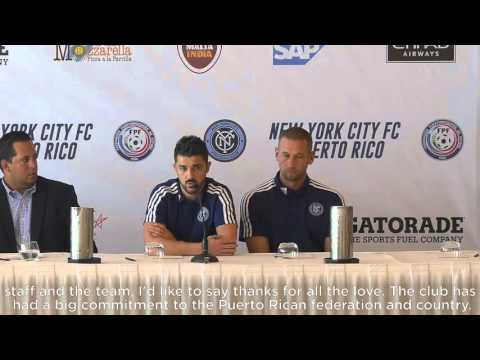 New York City FC Address the Media in Puerto Rico