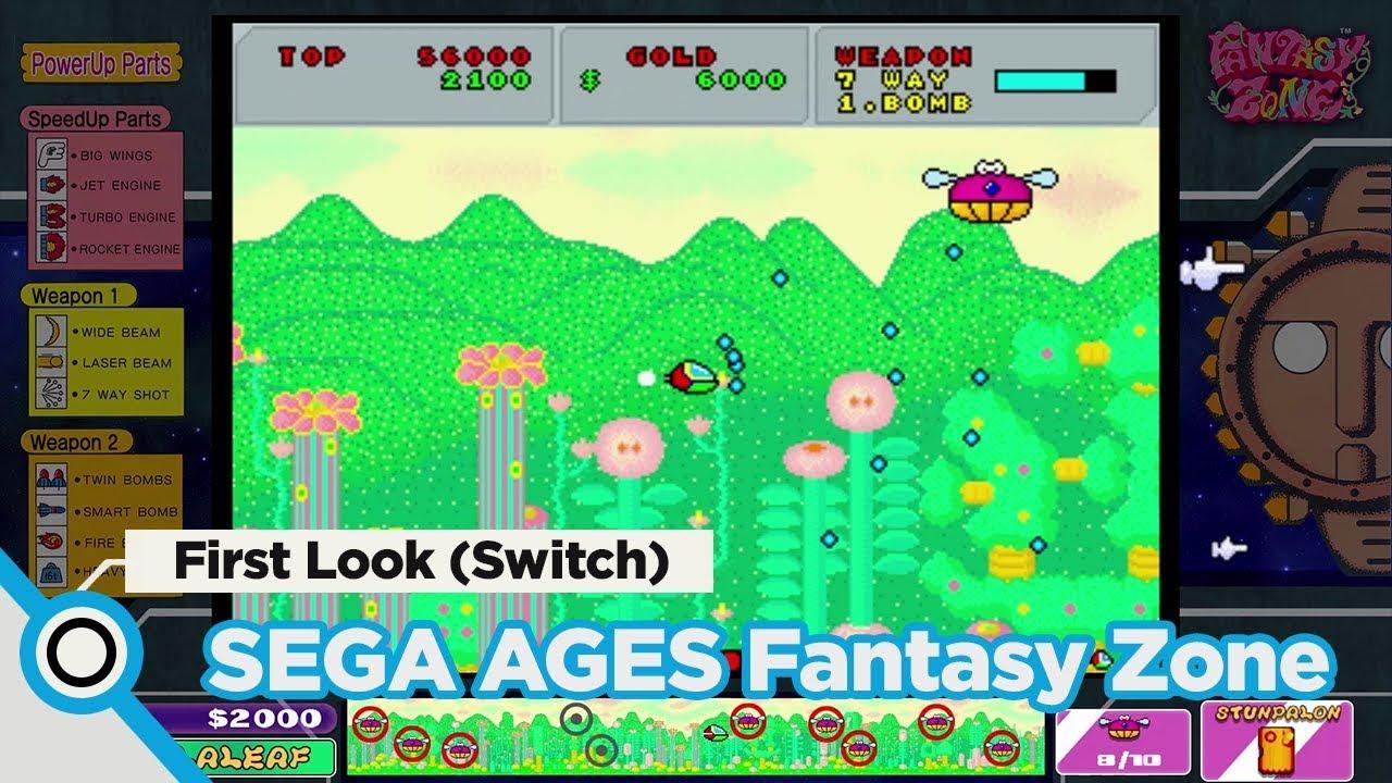 Δείτε footage από το Fantasy Zone του SEGA Ages