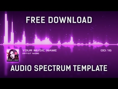 Audio Spectrum Visualizer After Effects Template Free