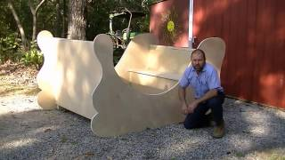 Simple Santa Sleigh build. Easy project for your yard or church. How to.