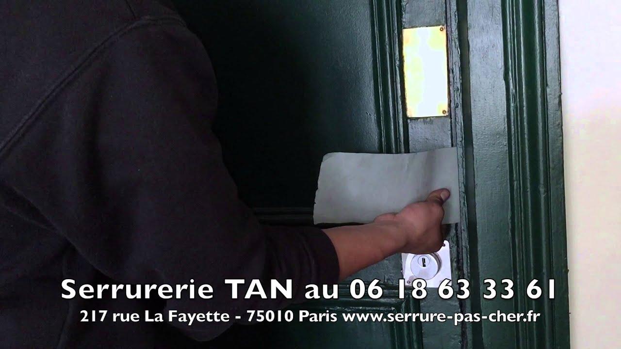 Tutoriel ouverture de porte claqu e porte non verrouill e - Comment ouvrir une porte de chambre sans cle ...