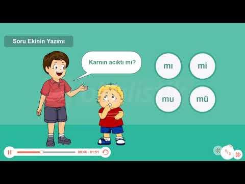 Okulistik 2 Sinif Turkce Soru Ekinin Yazimi Youtube