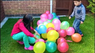 Learn Colors with Surprise Balloons for Kids