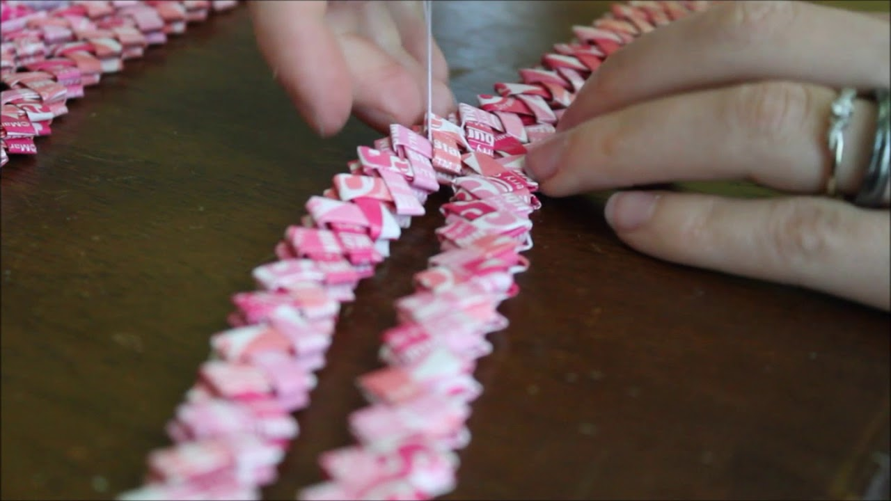 sewing starburst wrapper chains youtube