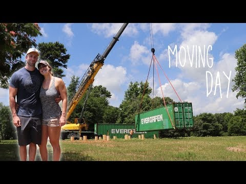 FINALLY! Moving Our Shipping Containers!