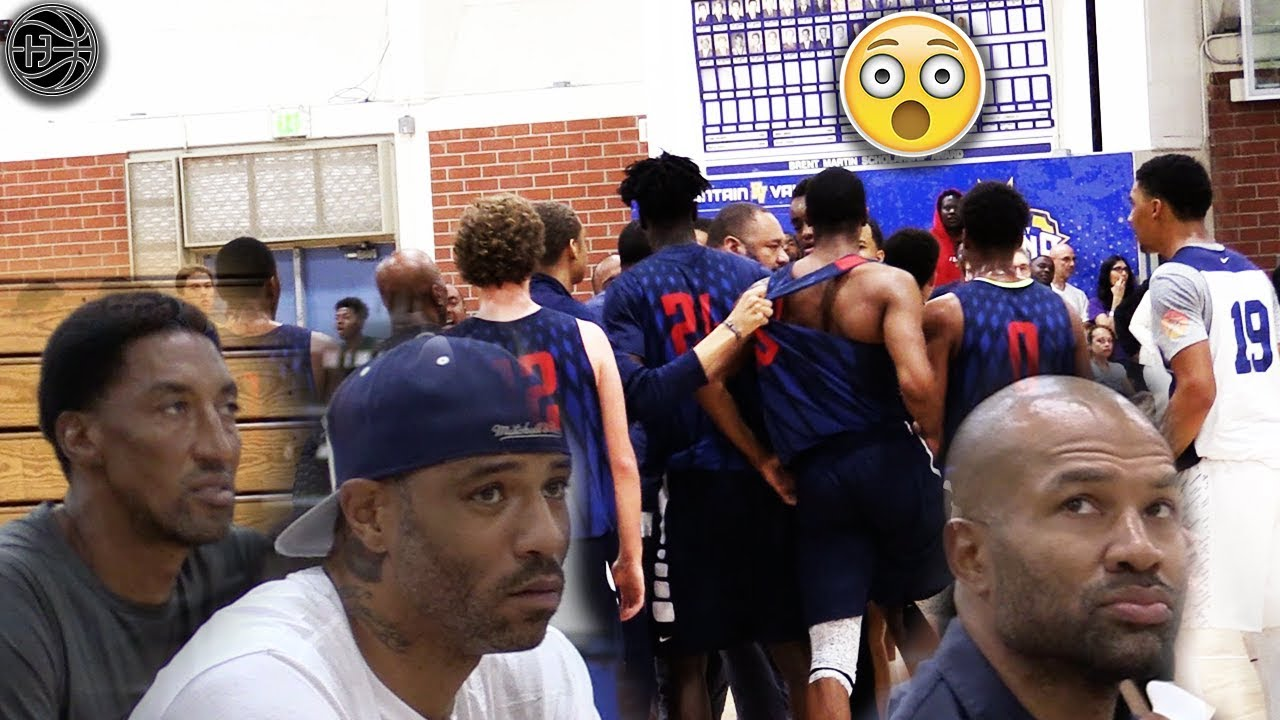 4eda3374cef NBA Legends Watch Their Sons Get HEATED IN A GAME! Scottie Pippen Jr ...
