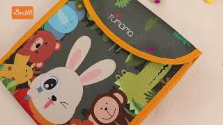 TUMAMA Portable Drawing Book for Travel,Dust-Free Chalks Doodle Board Book for toddlers kids