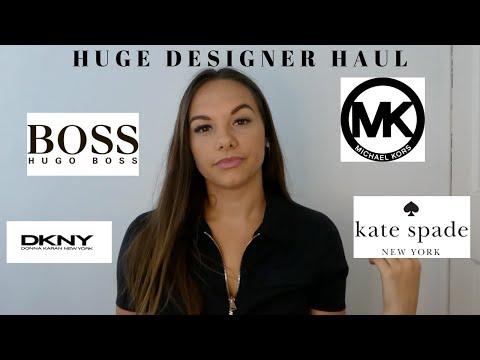 HUGE DESIGNER/LUXURY HAUL | MK, Hugo Boss, DKNY, Ted Baker & More! | Hannah Isobel