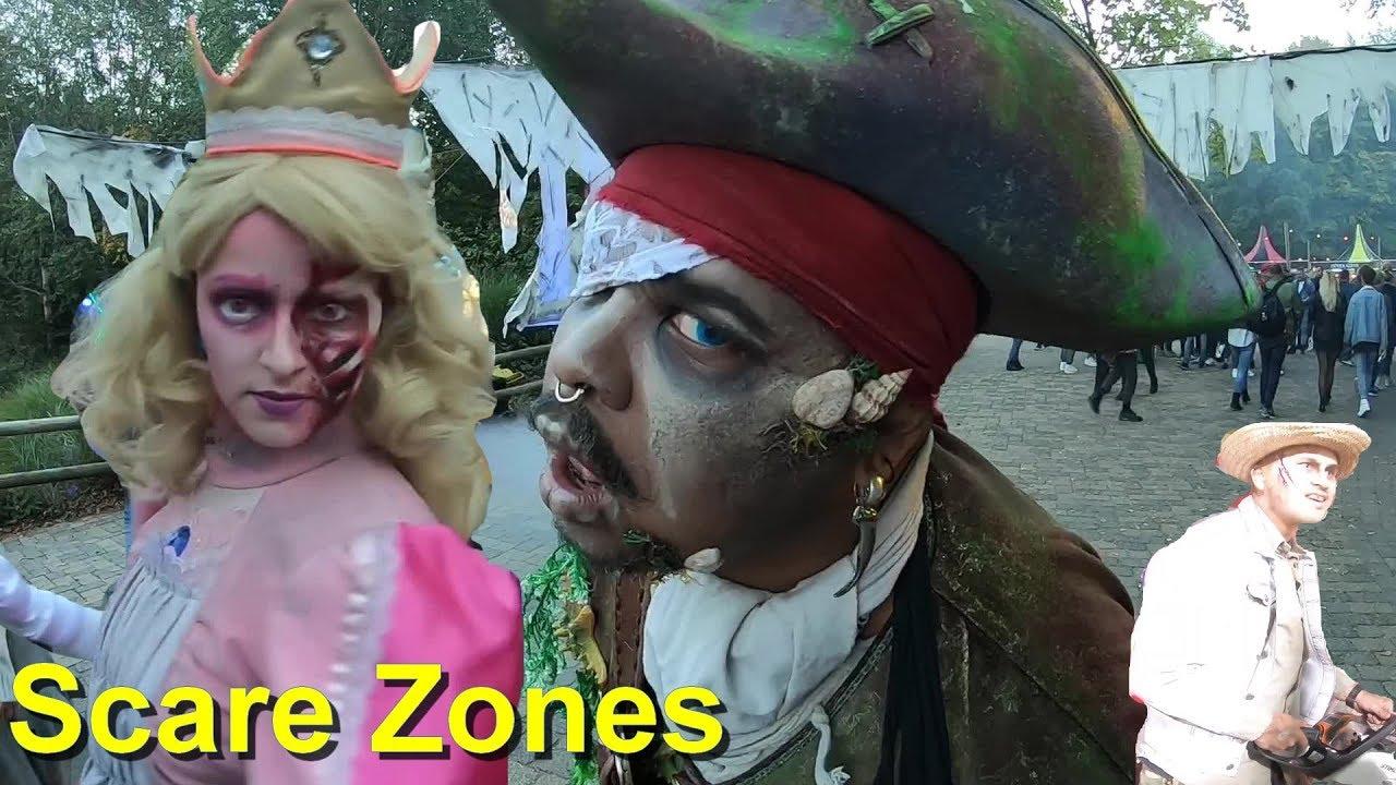 Halloween Fright Nights 2019 Walibi.Walibi Fright Nights 2018 Scare Zones Eddie De Clown Monster Halloween Fright Nights Walibi