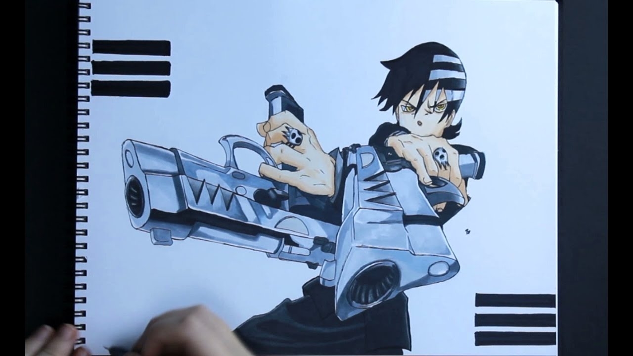 Drawing Death The Kid Soul Eater Youtube