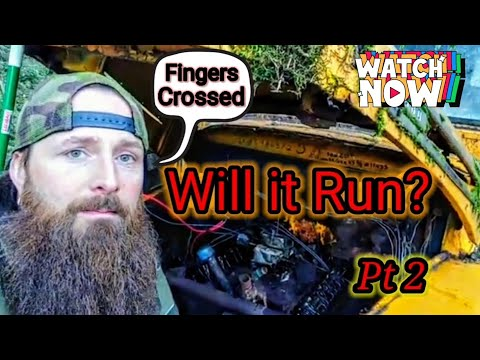 Will It Run? - Part 2- Starting up an Abandoned 1948 Ford F5 Bus that's been sitting for 25 Years! 👍