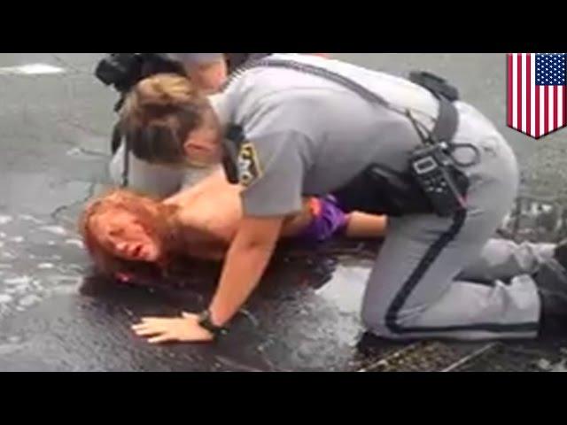 Kobieta pod wpływem narkotyku flakka aresztowana przez policję