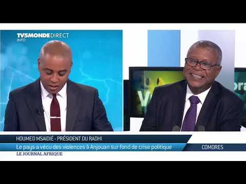 🇰🇲 Comores -Le président du RADHI était l'invité du journal Afrique