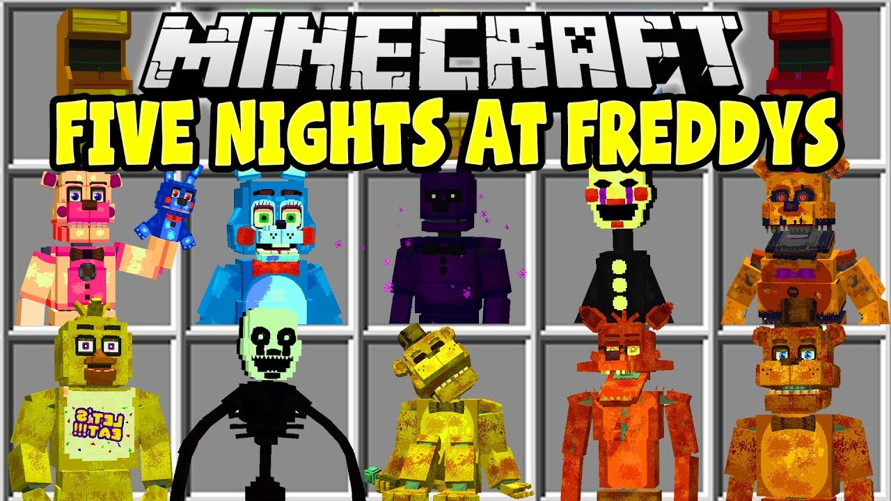 Minecraft Five Nights At Freddy S Mod Freddy Bonnie Chica The Puppet Youtube