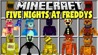 Minecraft FIVE NIGHTS AT FREDDY'S MOD   FREDDY, BONNIE, CHICA, THE PUPPET!!