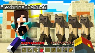 noob Girl RAIDS Minecraft Temple (triggers the trap..)
