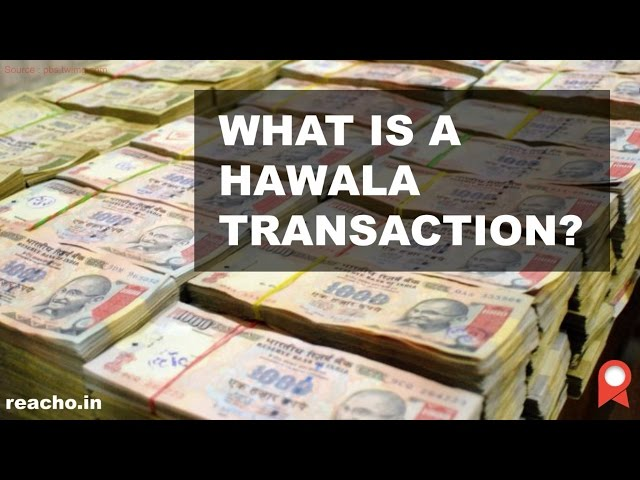 What is a hawala transaction and how it works?