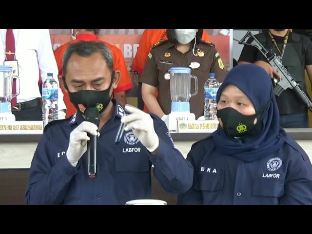 Polrestabes Palembang Blender Shabu dan Pil Ekstasi dari Bandar di Tangga Buntung
