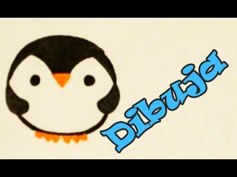 Aprende a Dibujar un Pinguino Kawaii Fácil Dibujin Dibujado ...
