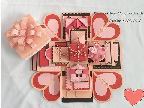 Love box 10x10cm - Hồng pastel- [NGOC VANG]