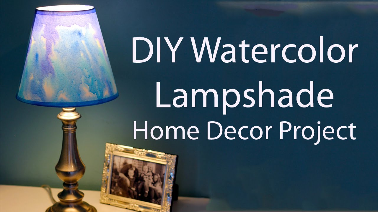 Diy watercolor lampshade simple home decor project youtube aloadofball Gallery