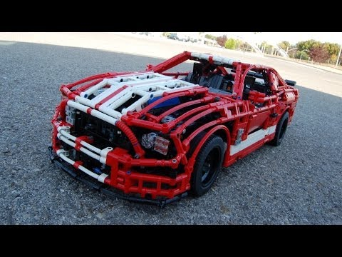 LEGO Ford Mustang Shelby GT500, FULL REMOTE CONTROLLED! by Sheepo