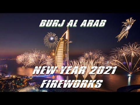 Happy New Year 2021 | Burj Al Arab Fireworks Dubai
