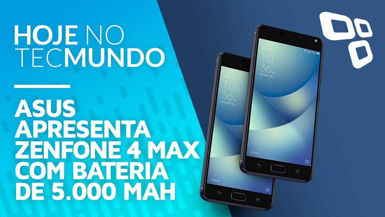 4077b11d7ce ASUS apresenta Zenfone 4 Max com bateria de 5.000 mAh - Hoje no TecMundo