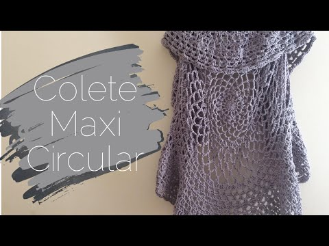 Colete Maxi Circular By MonyTatsch