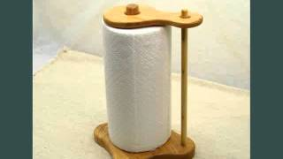 Paper Towel Holder Wood Holder Designs