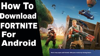 How To Download FORTNITE For Android (Realme X)