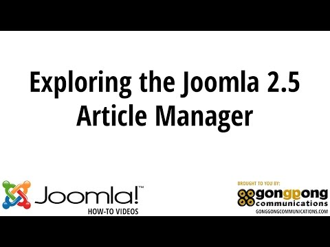 Exploring The Joomla 2.5 Article Manager