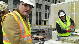 1 W. Wilson - Wisconsin State Office Building - On-site Training In Terra Cotta Repair