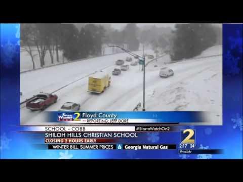 WSB-TV Snowjam 2014 Coverage (2-2:30pm) 1/28/2014