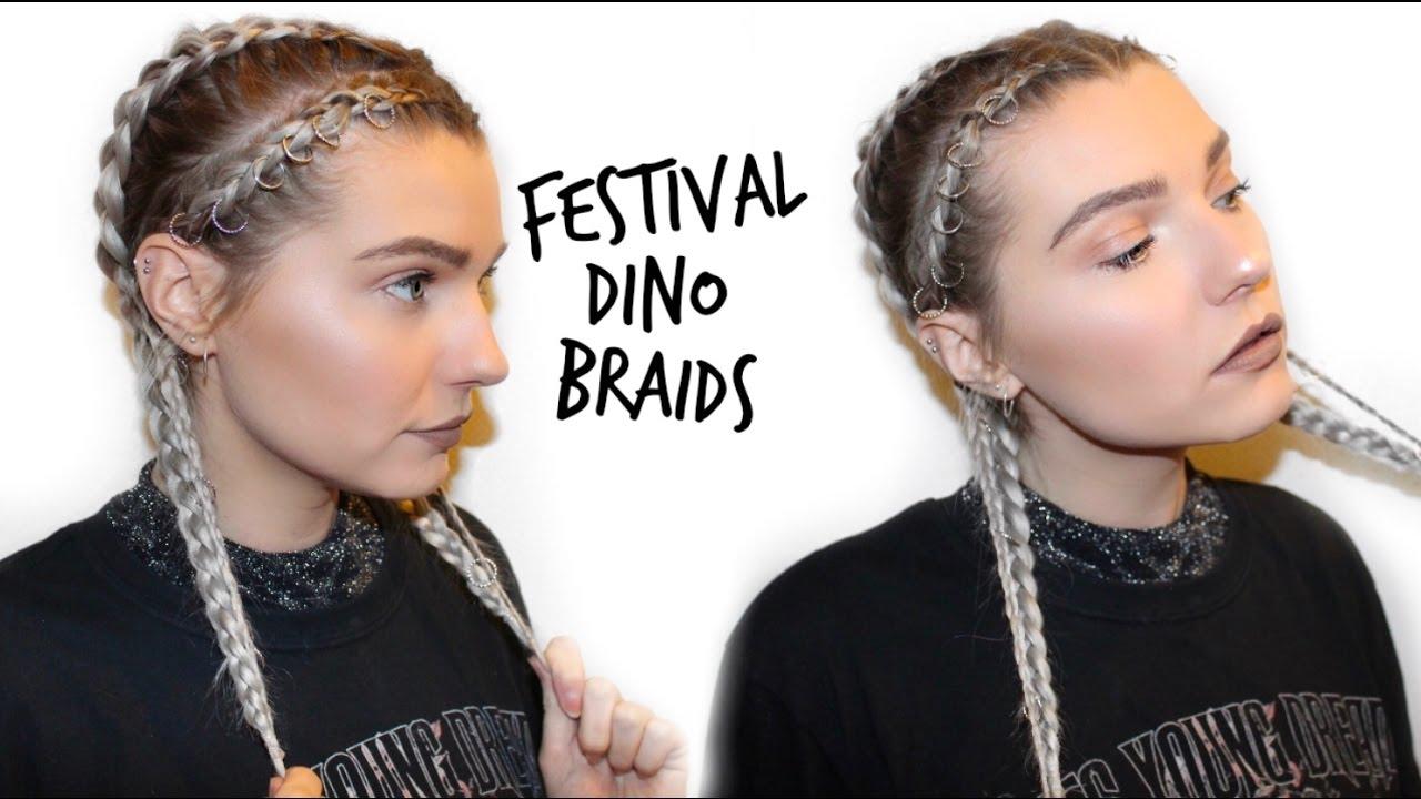 See The Singer S Latest Hair: Music Festival Hairstyle Dino Braids + Hair Rings