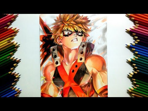 Drawing Bakugou Katsuki Boku No Hero Academia Youtube