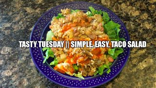 Tasty Tuesday || Raw Till 4 || Spicy Taco Salad