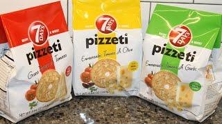 7Days Pizzeti: Grana Padano & Tomato / Emmentaler, Tomato & Olive / Emmentaler, Tomato & Garlic
