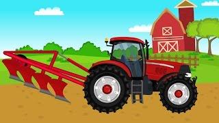 Czerwony traktor i ciężka praca | Video for kids | Czerwony Traktor dla dzieci