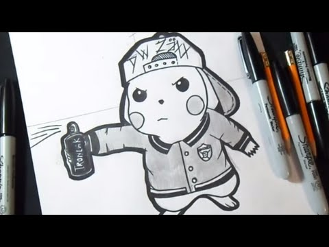 Dessin pikachu mauvais graffiti dwzaxx - Dessin de pikachu ...