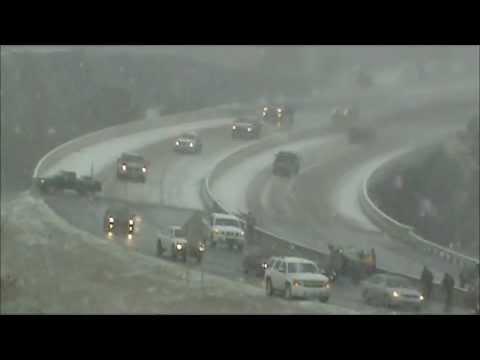 Snow Crash Rollover Caught on Video