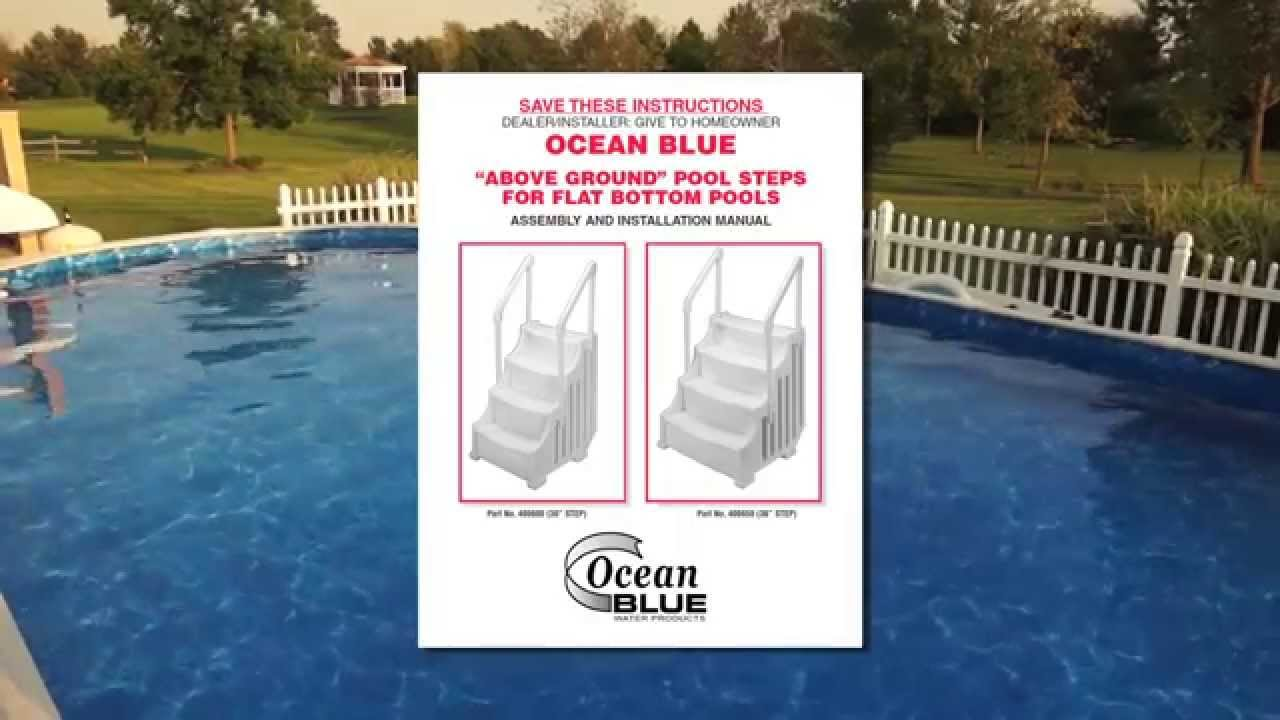 Ocean Blue Mighty Step Pool Ladder