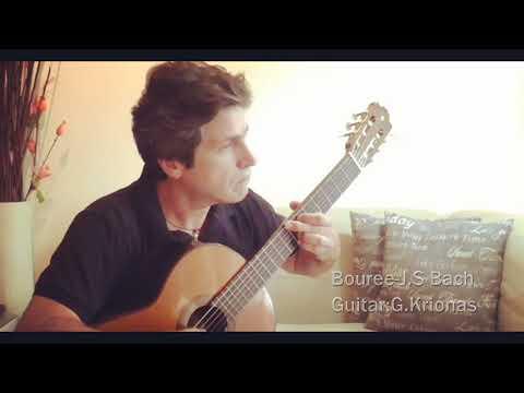 Bouree-J.S.Bach/Guitar:George Krionas