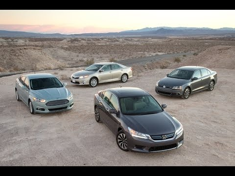 Toyota Camry vs Honda Accord vs Ford Fusion vs Volkswagen Jetta | Hybrid Sedan Comparison Test