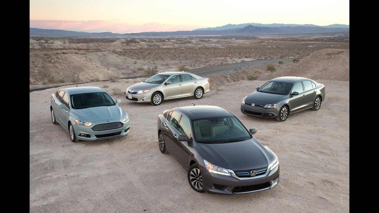 Accord Vs Camry >> Toyota Camry vs Honda Accord vs Ford Fusion vs Volkswagen Jetta | Hybrid Sedan Comparison Test ...