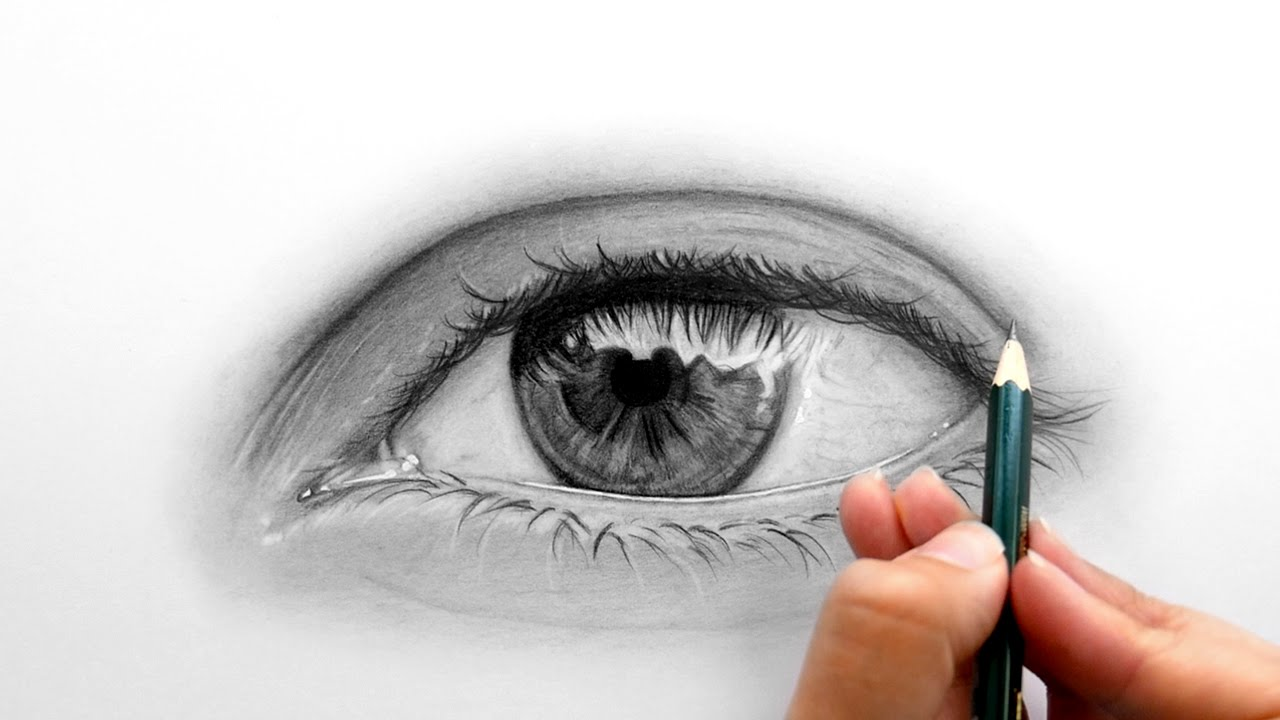 Drawing, Shading A Realistic Eye With Faber