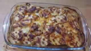 Блюдо в духовке, картошка с фаршем,на скорую руку!