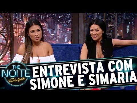 Entrevista com Simone e Simaria  The Noite 230817
